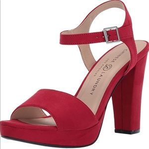 Chinese Laundry Women's Aced Heeled Sandal Red 6.5